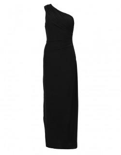 Černé dlouhé šaty na jedno rameno