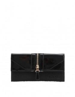 Černá peněženka se zipem Anna Smith