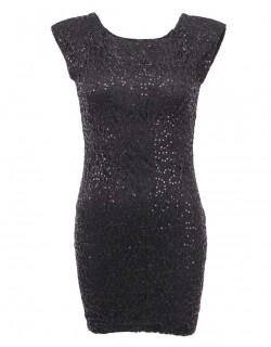 Černé malé šaty s flitry