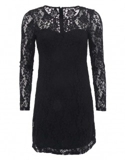 Menší černé krajkované šaty