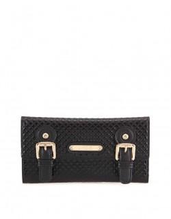 Černá peněženka s plastickým vzorem LYDC