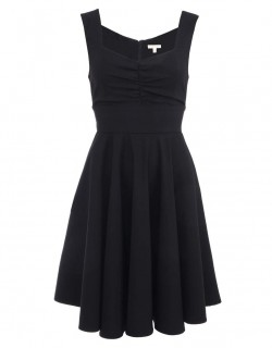 Černé šaty se sukní ze 30.let